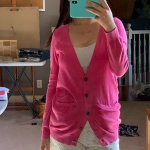 Madewell cardigan in Hot Pink